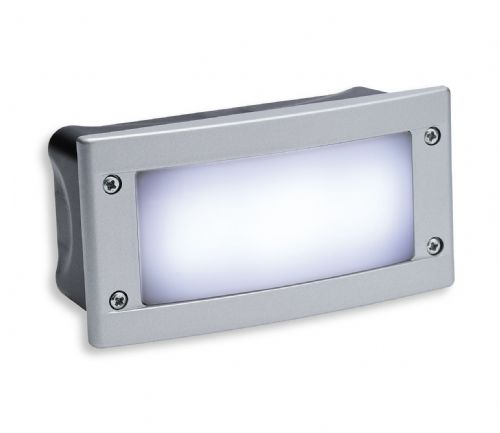 Firstlight 1811WH Silver Frame with White LED's LED Wall & Step Light